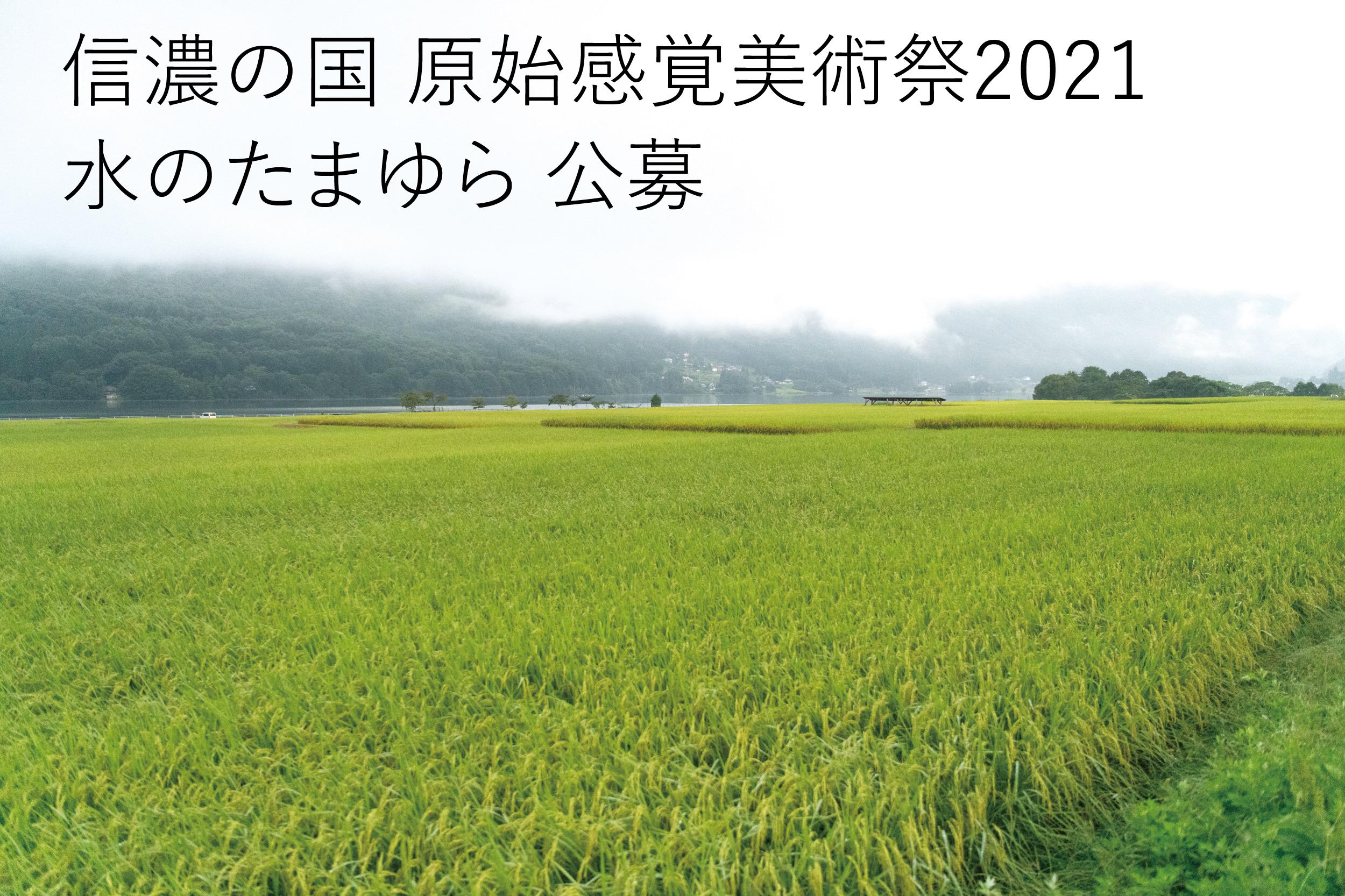 「信濃の国 原始感覚美術祭2021-水のたまゆら」公募